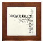 Alaskan Malamute Multi Framed Tile