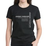 Alaskan Malamute Multi Women's Dark T-Shirt