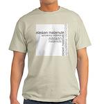 Alaskan Malamute Multi Ash Grey T-Shirt