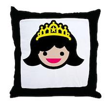 Princess -blk Throw Pillow