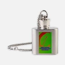 KEEP CAPITAL PUNISHMENT(button) Flask Necklace