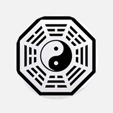 """YinYang2 3.5"""" Button"""