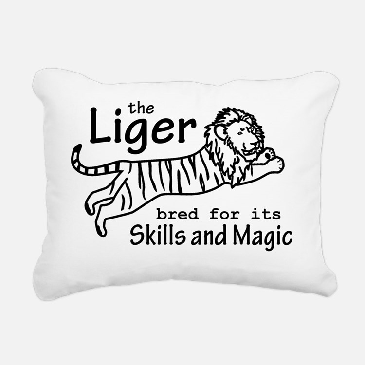 Liger (light) Rectangular Canvas Pillow