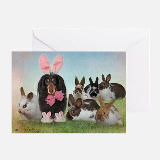 Cute Dachshund easter Greeting Card