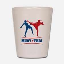 muay thai mma kickboxing martial arts Shot Glass