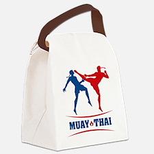 muay thai mma kickboxing martial  Canvas Lunch Bag
