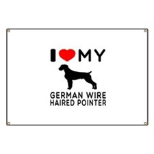I Love My German Wirehaired Pointer Banner