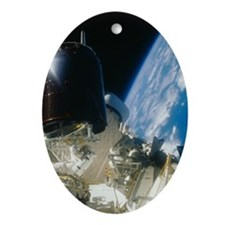 Space Shuttle Oval Ornament