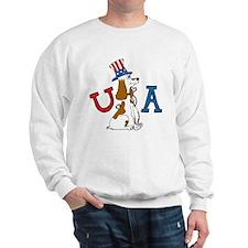 Patriotic Pup USA Section Sweatshirt