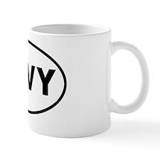 oval navy Mug