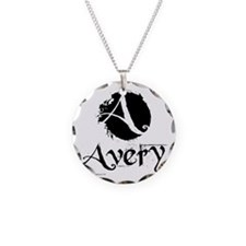 Avery grunge Necklace Circle Charm