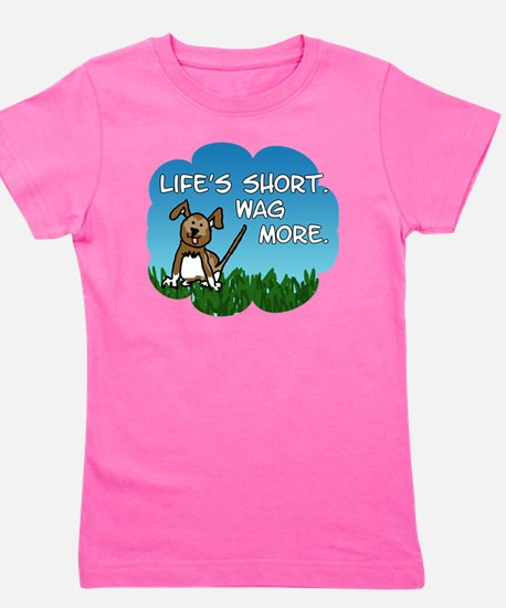 Wag More Square Girl's Tee