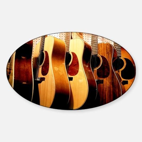Guitars Sticker (Oval)