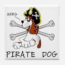 pirate dog Tile Coaster