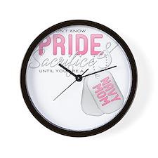 PrideandSacrifice_NavyMom Wall Clock