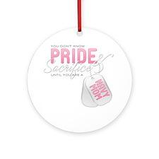 PrideandSacrifice_NavyMom Round Ornament