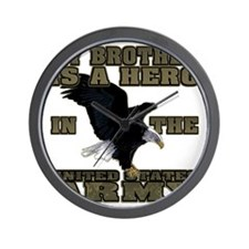 army hero_brother Wall Clock