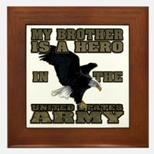 army hero_brother Framed Tile
