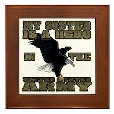 army hero_sister Framed Tile