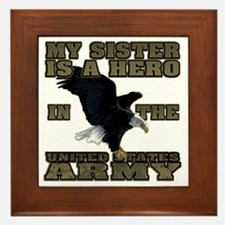 army hero_sister Framed Tile