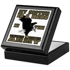 army hero_sister Keepsake Box