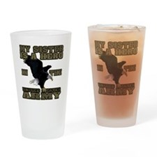 army hero_sister Drinking Glass