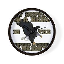 army hero_sister Wall Clock