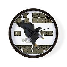 army hero_son Wall Clock