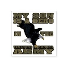 "army hero_son Square Sticker 3"" x 3"""