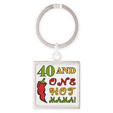 HotMama40 Square Keychain