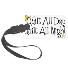 QuiltDayNight2 Luggage Tag