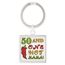 HotMama50 Square Keychain