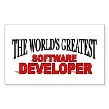 """The World's Greatest Software Developer"" Decal"