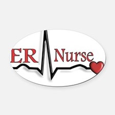 ER Nurse Oval Car Magnet
