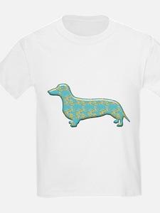 Paisley Dachshund Kids T-Shirt