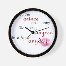 volvovampire-black Wall Clock