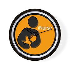 i_Nurse_Orange Wall Clock
