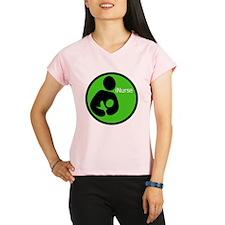 i_Nurse_Green Performance Dry T-Shirt