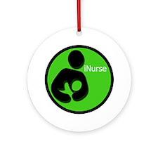 i_Nurse_Green Round Ornament