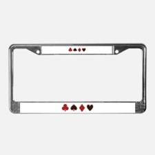 Poker License Plate Frame