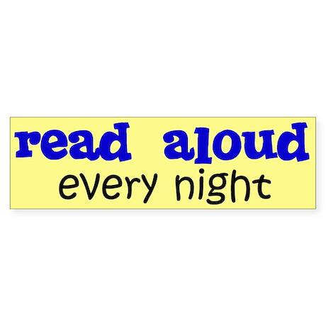 Read Aloud Bumper Sticker