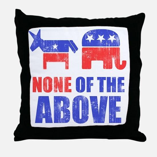 NONEOFTHEABOVE Throw Pillow