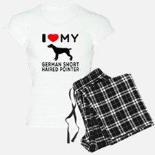 I Love My German Shorthaired Pointer Pajamas