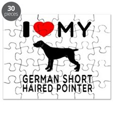 I Love My German Shorthaired Pointer Puzzle