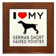 I Love My German Shorthaired Pointer Framed Tile