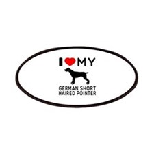I Love My German Shorthaired Pointer Patches