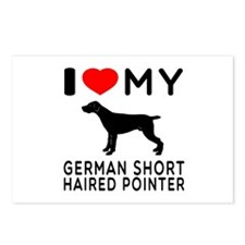 I Love My German Shorthaired Pointer Postcards (Pa