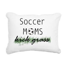 soccermomskickgrass Rectangular Canvas Pillow