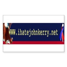 www.ihatejohnkerry.net Rectangle Decal