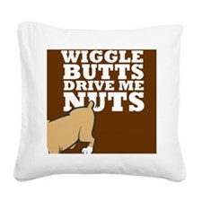 wigglebutts Square Canvas Pillow